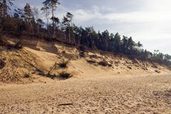 Paisaje con las vistas del mar Báltico fotografía de archivo libre de regalías