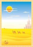 Paisaje con los camellos Fotos de archivo libres de regalías