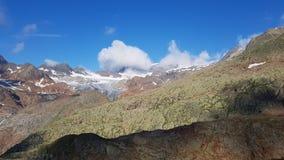 Paisaje con los glaciares Imagen de archivo libre de regalías