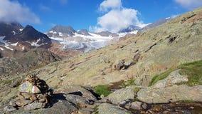 Paisaje con los glaciares Fotografía de archivo