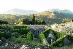 Paisaje con una fortaleza a nivel superior Spanjola Fotografía de archivo libre de regalías