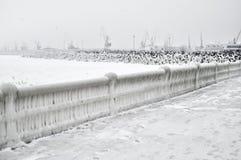 Paisaje congelado de la cerca Imágenes de archivo libres de regalías