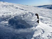 Paisaje congelado Peñalara españa Imagen de archivo libre de regalías