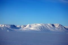 Paisaje costero del este del invierno de Groenlandia Fotografía de archivo libre de regalías