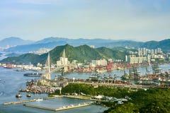 Paisaje costero en Hong-Kong Imagen de archivo libre de regalías