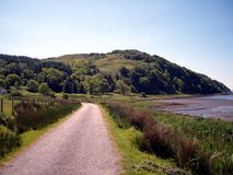 Paisaje costero escocés del estado fotografía de archivo