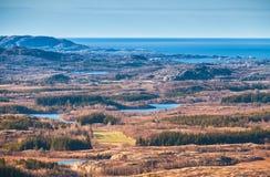 Paisaje costero noruego vacío Fotografía de archivo libre de regalías