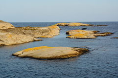 Paisaje costero Stangnes, Noruega Fotos de archivo