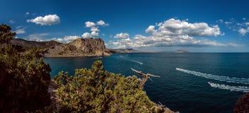 Paisaje Crimea del mar de la naturaleza de la belleza Imagen de archivo