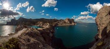 Paisaje Crimea del mar de la naturaleza de la belleza Imagen de archivo libre de regalías