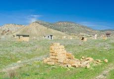 Paisaje crimeo - construcciones inacabadas Foto de archivo