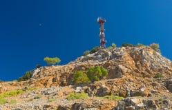 Paisaje crimeo de las montañas con el equipo al aire libre Imagen de archivo libre de regalías