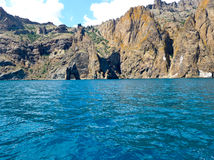 Paisaje crimeo del volcán extinto de Karadag Roca de la puerta de oro Imagen de archivo libre de regalías