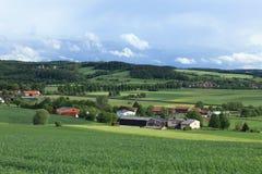 Paisaje cultural de Werratal Alemania Imagen de archivo