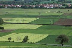 Paisaje cultural de Werratal Alemania Imagen de archivo libre de regalías