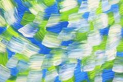 Paisaje de acrílico abstracto Imágenes de archivo libres de regalías