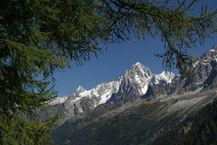 Paisaje de Aguilles de Chamonix - de Chamonix Imágenes de archivo libres de regalías