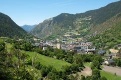 Paisaje de Andorra Pyrenees Imágenes de archivo libres de regalías