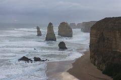 Paisaje de 12 apóstoles en gran camino del océano Foto de archivo