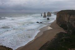 Paisaje de 12 apóstoles en gran camino del océano Foto de archivo libre de regalías