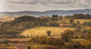 Paisaje de Arezzo Foto de archivo