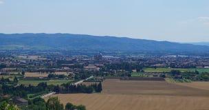 Paisaje de Assisi imagen de archivo