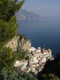 Paisaje de Atrani, costa de Amalfi Fotos de archivo libres de regalías