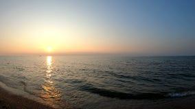 Paisaje de Baikal en la puesta del sol almacen de video