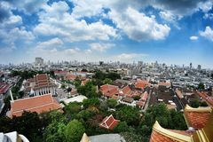 Paisaje de Bangkok Imagen de archivo libre de regalías
