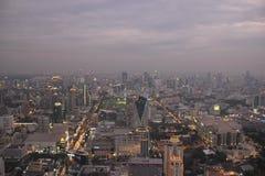Paisaje de Bangkok, visión desde la torre del cielo de Bayoke Fotos de archivo