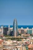 Paisaje de Barcelona Foto de archivo libre de regalías