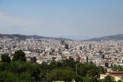 Paisaje de Barcelona Imagen de archivo libre de regalías