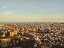Paisaje de Barcelona Fotos de archivo