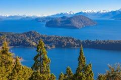 Paisaje de Bariloche en la Argentina Imagen de archivo