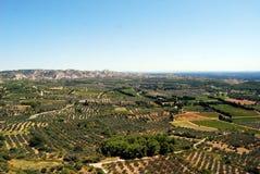 Paisaje de Baux de Provence Foto de archivo