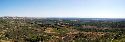 Paisaje de Baux de Provence Imagenes de archivo