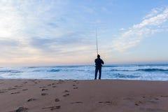 Paisaje de Beach Ocean Horizon del pescador Fotografía de archivo libre de regalías