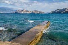 Paisaje de Bescanuova Isla de Krk Croacia Fotos de archivo