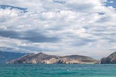 Paisaje de Bescanuova Isla de Krk Croacia Imágenes de archivo libres de regalías