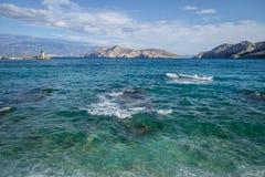Paisaje de Bescanuova Isla de Krk Croacia Foto de archivo