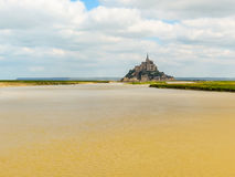 Paisaje de Bretaña y de Mont Saint-Michel, Francia Imágenes de archivo libres de regalías