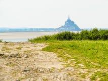 Paisaje de Bretaña y de Mont Saint-Michel, Francia Imagen de archivo libre de regalías