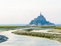 Paisaje de Bretaña y de Mont Saint-Michel, Francia Fotos de archivo libres de regalías