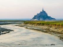 Paisaje de Bretaña y de Mont Saint-Michel, Francia Foto de archivo