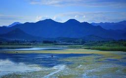 Paisaje de China el lago Qinghai Fotos de archivo libres de regalías