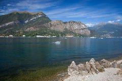Paisaje de Como del lago Foto de archivo