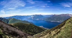 Paisaje de Como del lago, Italia Fotos de archivo libres de regalías