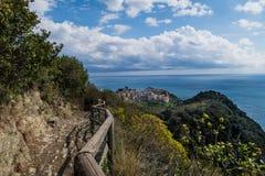 Paisaje de Corniglia Foto de archivo libre de regalías