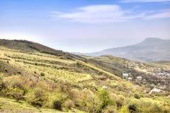 Paisaje de Crimea, visión desde una montaña Demerdzhi Fotos de archivo libres de regalías