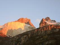 Paisaje de Cuernos del Paine Foto de archivo libre de regalías